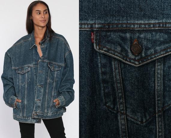 Levis Jean Jacket xxl 80s Denim Jacket USA Levis Jacket 90s Blue Vintage Oversized Biker Grunge Trucker Levi Strauss 2XL Extra Large XL
