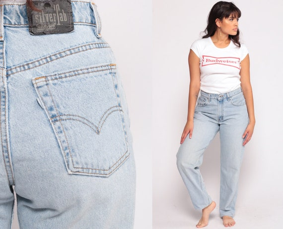 Mom Jeans LEVIS High Waist Levi Jeans 90s Jeans Denim Pants Light Blue Vintage 80s Blue Denim Hipster Medium 10 30