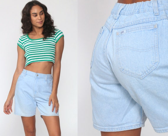 LEE Jean Shorts 90s Mom Shorts Light Blue Denim Sh