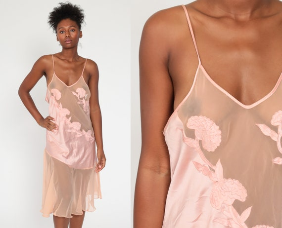 Victoria's Secret Nightgown Pink Floral Lace Night