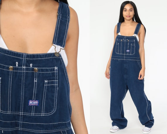 Big Smith Jean Overalls 90s Denim Pants Coveralls Work Wear Baggy 1990s Dungarees Bib Boyfriend Vintage Carpenter Extra Large xl l
