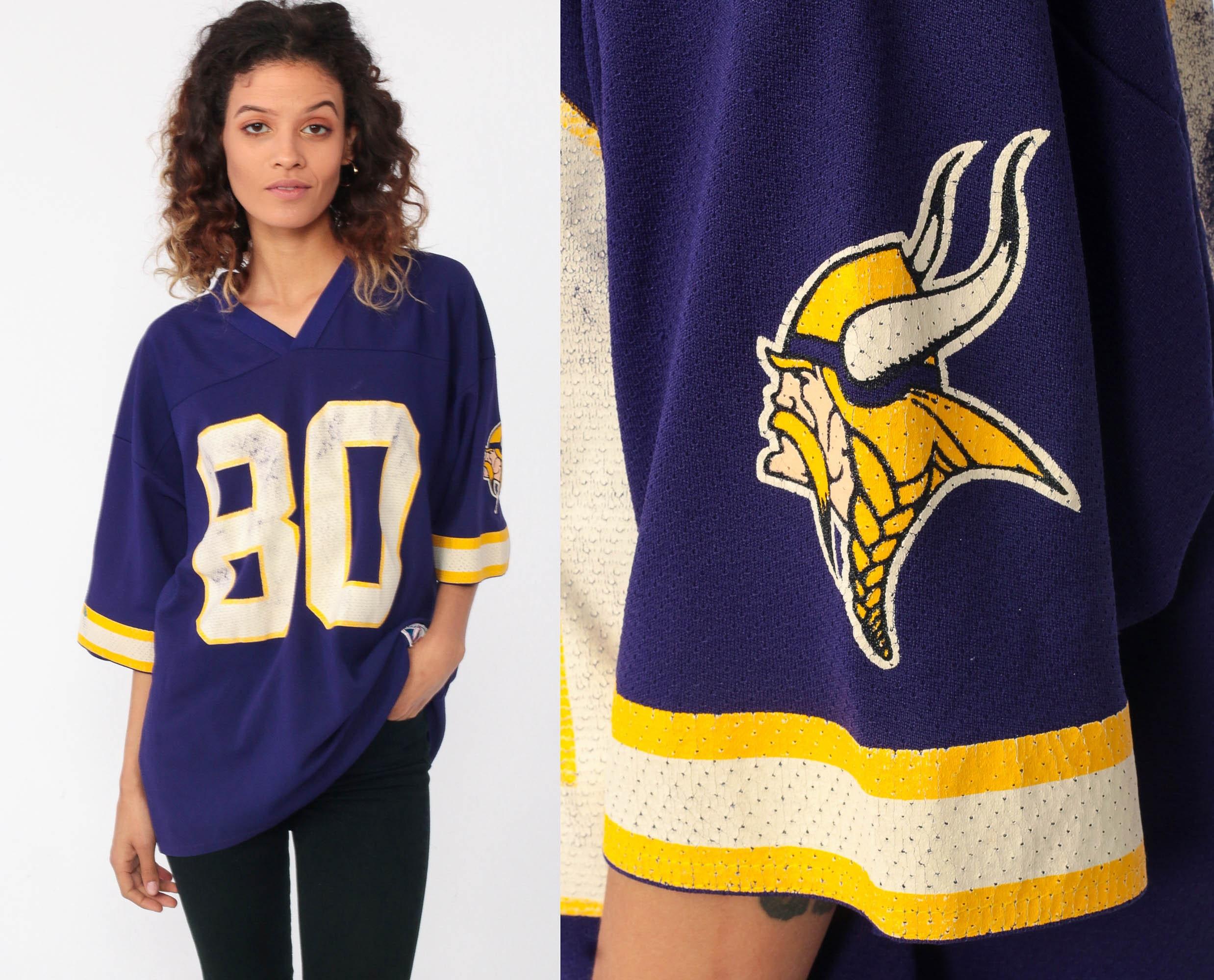 uk availability 6860a 466e0 Minnesota Vikings Shirt Cris Carter Football Jersey 90s NFL ...