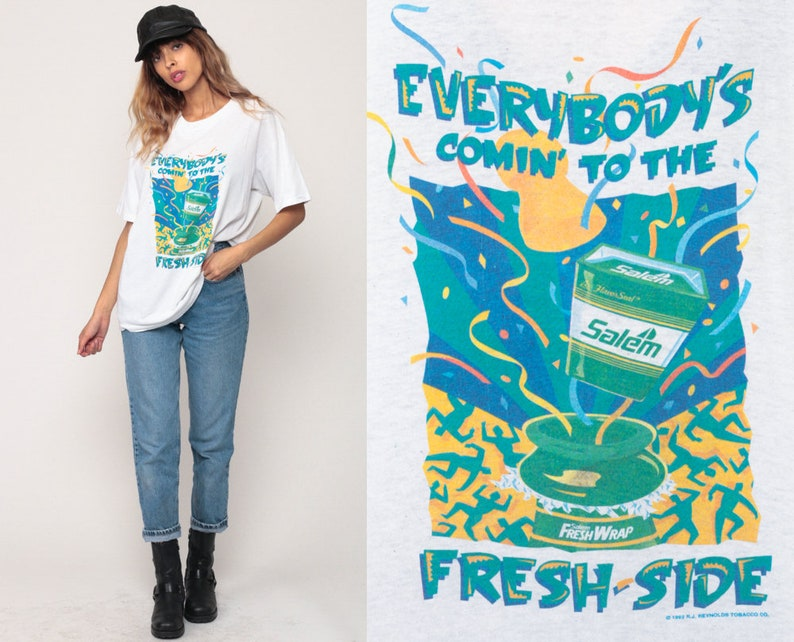 d68cd4c81d4 Salem Cigarettes Shirt Everybody s COMIN  To The FRESH