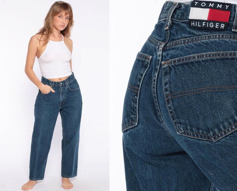 61138192 Tommy Hilfiger Jeans Mom Jeans Tommy Jeans Denim Pants 90s | Etsy