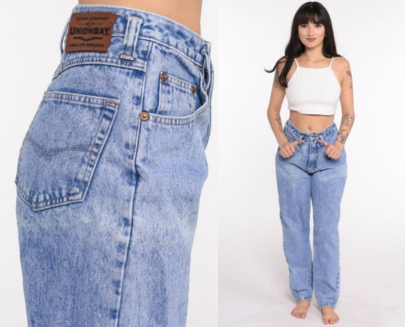 Unionbay Jeans Mom Jeans Denim Pants High Waist Jeans 90s Jeans Tapered Jeans 80s Vintage Extra Small xs 25