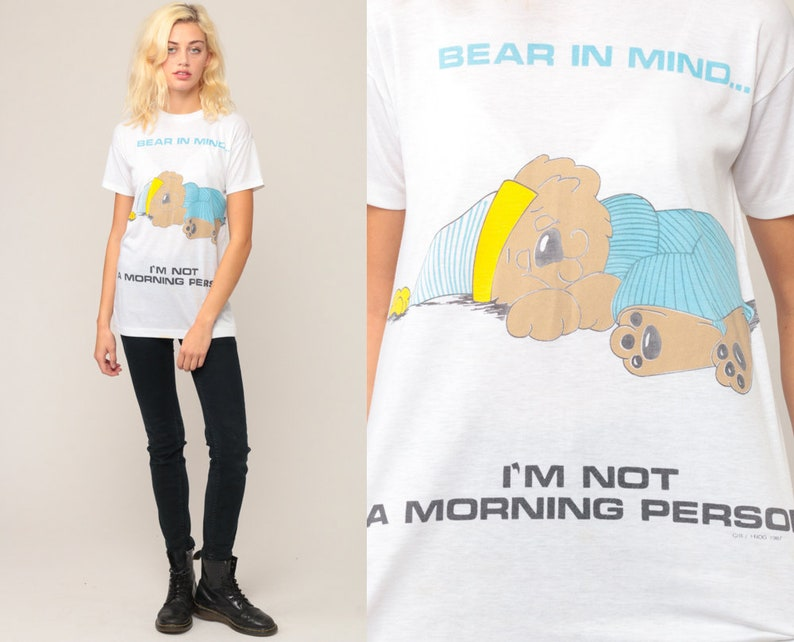 a1e68a98a99b Pajama Tee Shirt I m NOT A MORNING PERSON Tshirt Teddy