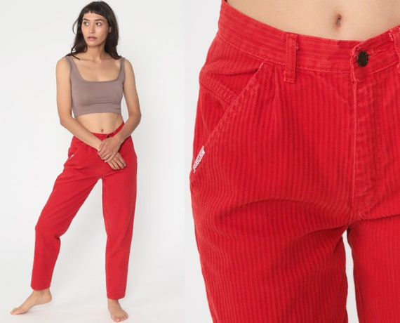 Red Gitano Jeans 90s Mom Jeans 80s High Waisted Denim Pants Slim Tapered High Waist Jeans 90s Vintage Small 26 4