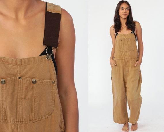 Berne Work Overalls 46 x 28 Baggy Pants Cargo Dungarees Pants 90s Long Wide Leg Jeans Bib Workwear Vintage Work Wear Small Short