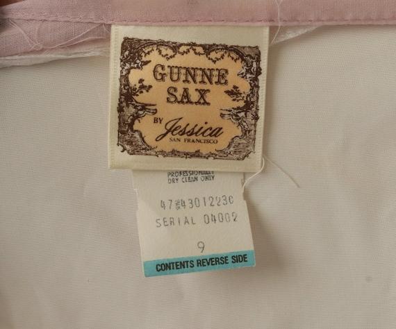 Gunne Sax Dress 70s Maxi PRAIRIE Baby Pink Butter… - image 6