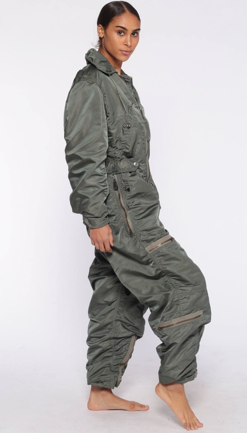 53380bb93595 Flight Suit Military Jumpsuit Army Coveralls Air Force Zip Up