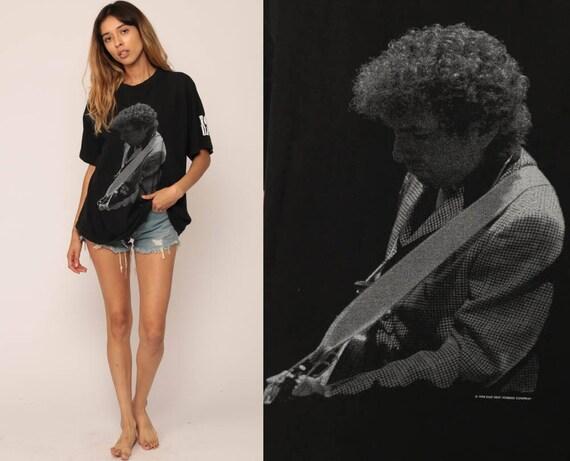 Bob DYLAN TShirt Tour T Shirt 90s Band T Shirt 1994 Band Tee Vintage Tour Shirt Concert Folk Rock Tshirt Black Extra Large xl