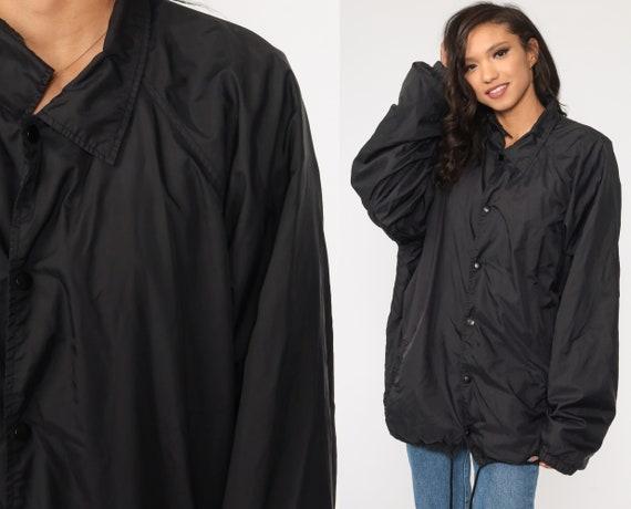 Dickies Windbreaker Jacket Y2K Black Windbreaker Streetwear Windbreaker Retro Sportswear Vintage 00s Men's Extra Large xl