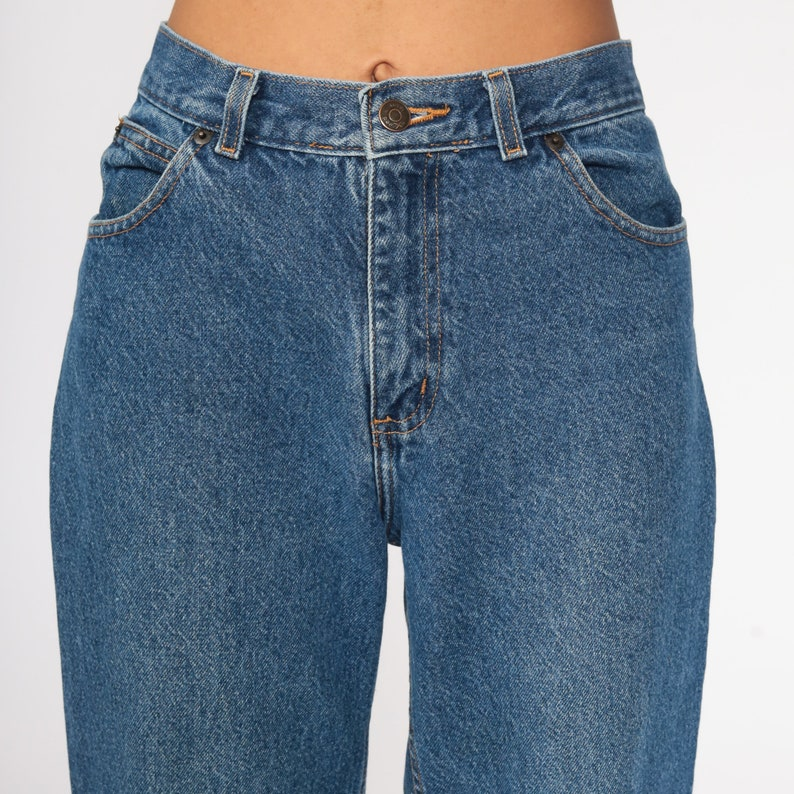 90s Mom Jeans Blue Jeans High Rise Waist Jeans 1990s High Waisted Denim Pants Vintage Small 26