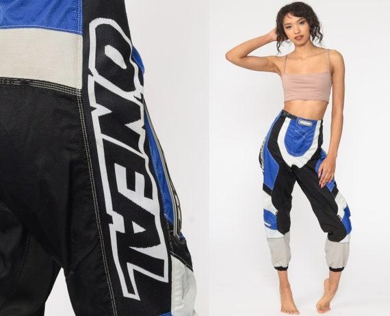 O'Neal Motocross Pants Vintage 90s Dirt Bike Racing Blue Black Riding Streetwear Motorcycle Pants 1990s Biker Pants Retro Medium 32 34