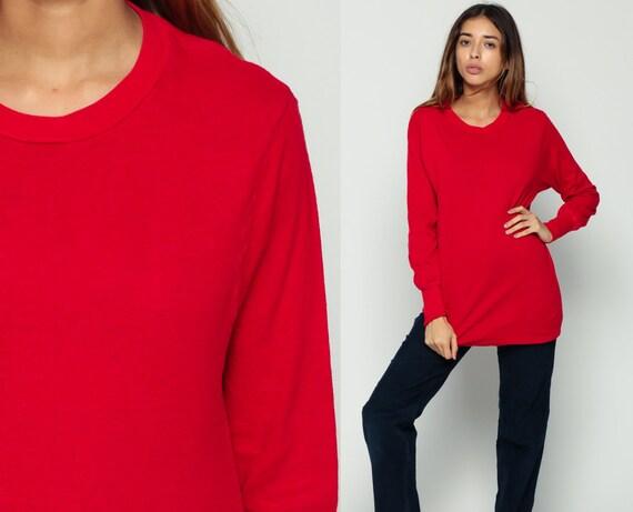Vintage Duofold Shirt Red Thermal Shirt Undershirt Long Sleeve Shirt Plain Shirt 80s T Shirt Retro Tee Vintage Tshirt 70s Basic Medium