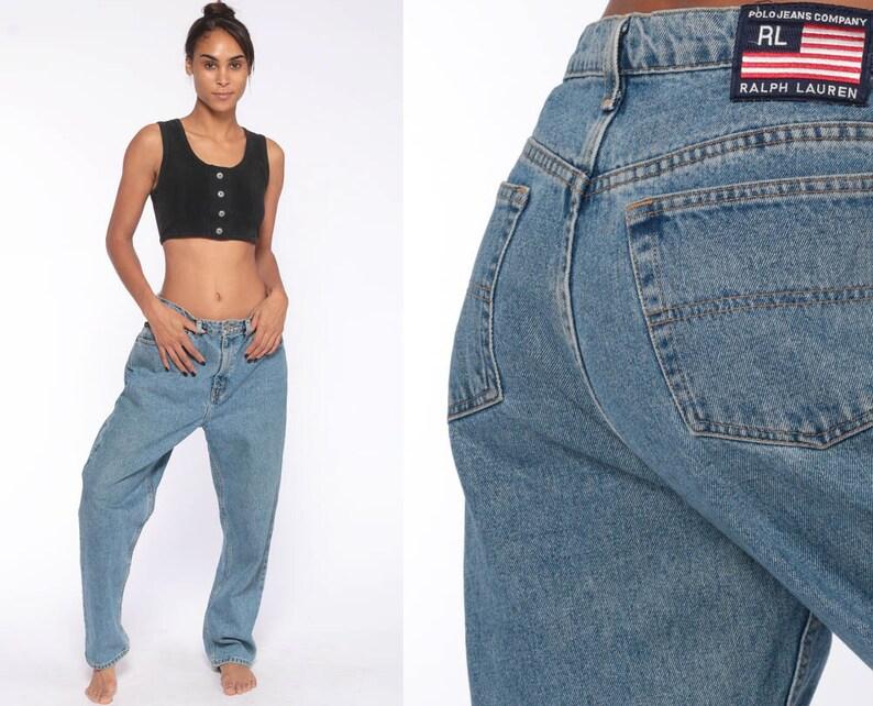 aa90958f3ca6d0 Ralph Lauren Jeans 12 BAGGY Jeans Denim Pants Boyfriend | Etsy