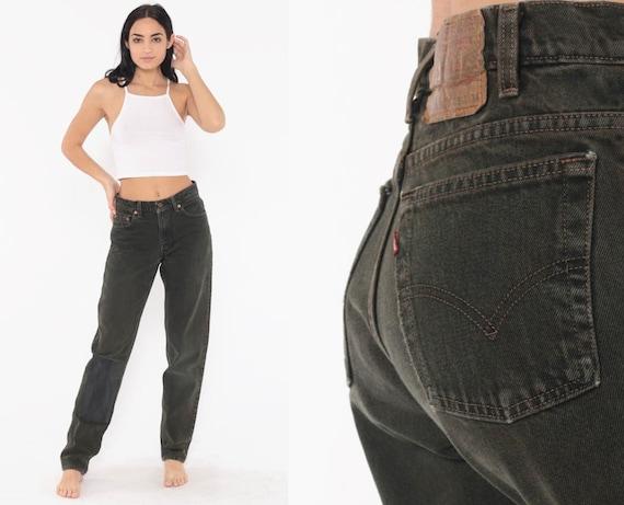 Black Mom Jeans 550 Levis Jeans 29 -- High Waist Jeans 80s Jeans Levi Denim Pants Vintage Hipster Tapered Slim 90s Medium 29 8