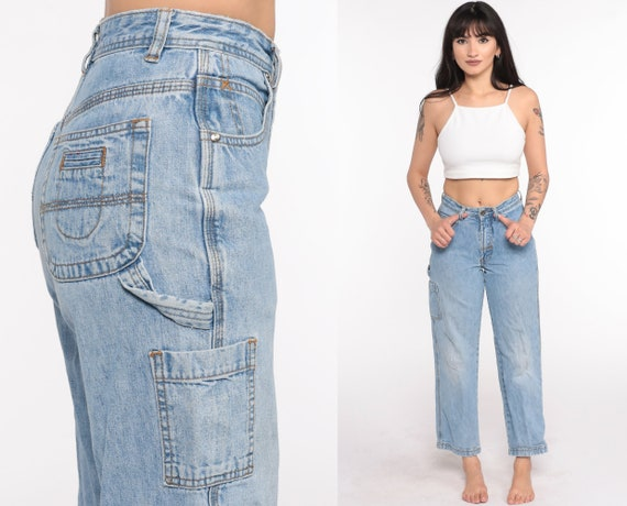 90s Cargo Jeans 2xs -- Carpenter Jeans Workwear Work Pants Jeans 90s Cargo Work Pants Straight Leg Denim Pants Vintage Extra Small xxs