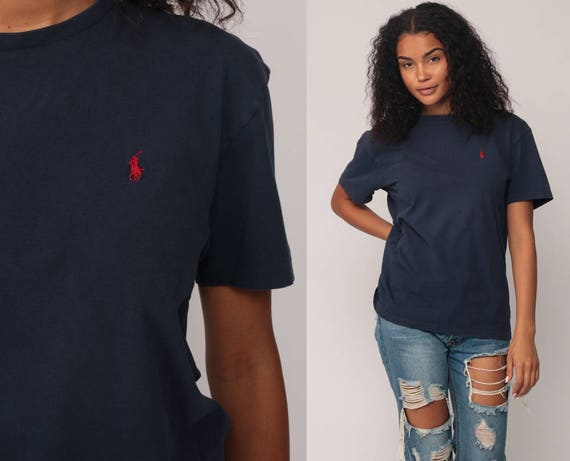 Ralph Lauren chemise 90 s TShirt oversize Polo Sport bleu   Etsy 331d04f04492