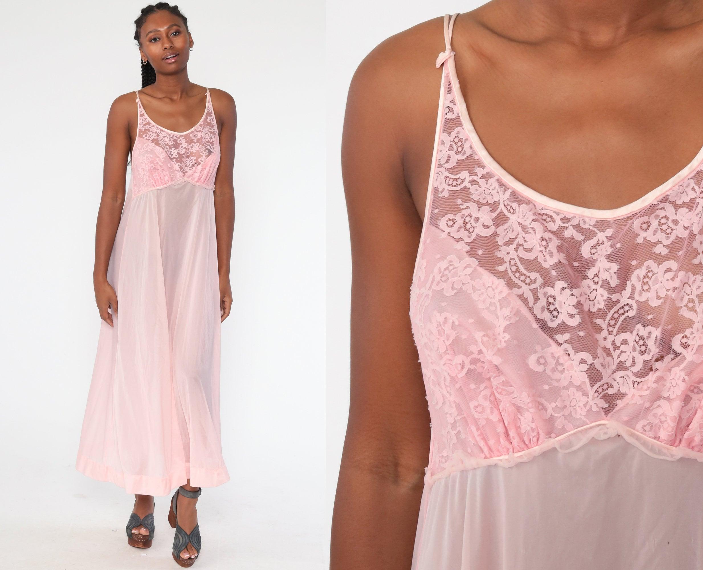 1970s slip vintage lace lingerie vintage 1970s pink lingerie slip