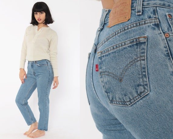 512 Levis Mom Jeans 25 x 27 -- High Waist Levi Jeans 80s Jeans Denim Pants Tapered Slim 90s Vintage Blue Extra Small xs Petite