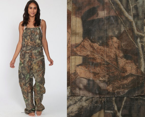 Camouflage Overalls 90s Pants Hunting Pants Bib Camo OVERALLS Army Pants Camo Realtree Grunge Dungarees 90s Streetwear Vintage Small Medium