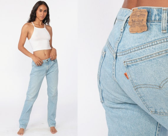 90s Levis Mom Jeans 31 -- High Waist Jeans 90s Jeans Light Blue Jeans Levi 80s High Waisted Denim Pants 505 Vintage Medium