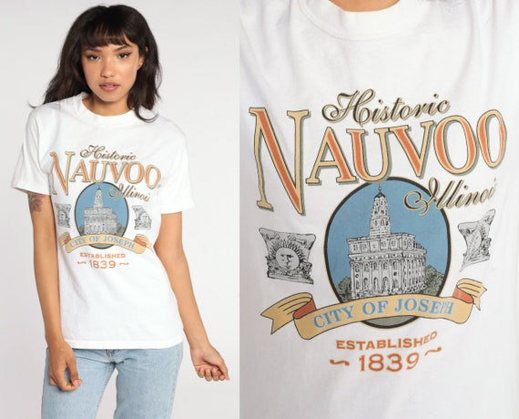 Nauvoo Illinois Shirt 90s NYC Shirt Retro TShirt City of Joseph Vintage t Shirt 90s Travel Graphic Tee Small S