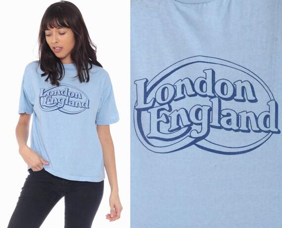 London England Shirt 80s Retro Graphic Shirt Travel Tshirt Vintage T Shirt 1980s Small Medium