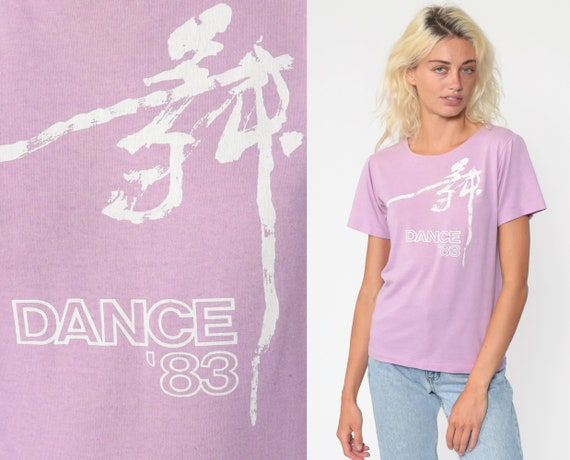 Dance '83 Shirt 1983 Retro T Shirt Purple Single Stitch Shirt Vintage 80s Tee Graphic Tshirt Dancing 1980s Small s