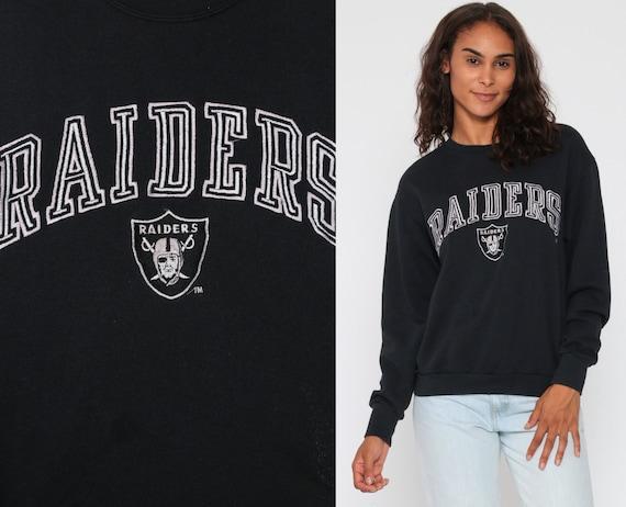 RAIDERS Sweatshirt Oakland 90s Sweatshirt California NFL Football Raider Nation Jumper Sportswear 1990s Black Bay Area SF Womens Medium