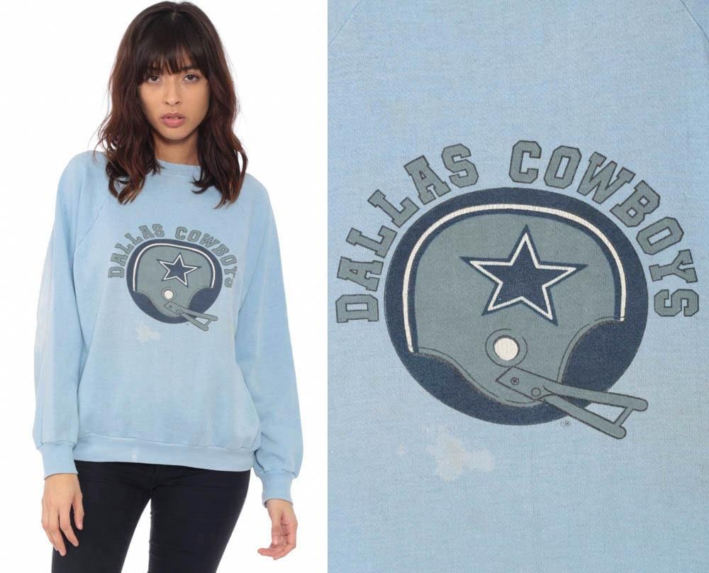 Dallas Cowboys Sweatshirt Distressed Baby Blue Football Shirt NFL  supplier