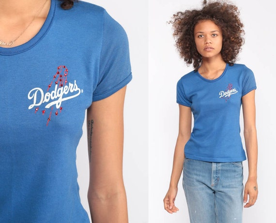 LA Dodgers Shirt Baseball T Shirt 80s TShirt Los Angeles Baby Tee California Athletics Sports Retro Graphic Vintage Girly Extra small xs