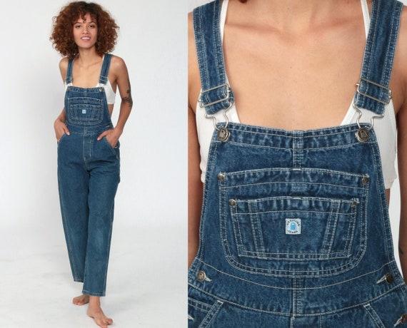 Jean Overalls 2xs Petite -- 90s Denim GRUNGE Pants Gasoline Jeans 1990s Dungarees Bib Boyfriend Vintage Carpenter Extra Small xxs