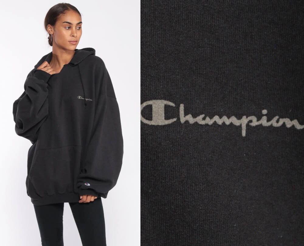 3ab1c5c66f86 Black Champion Hoodie Sweatshirt Hooded Sweatshirt Hood ...