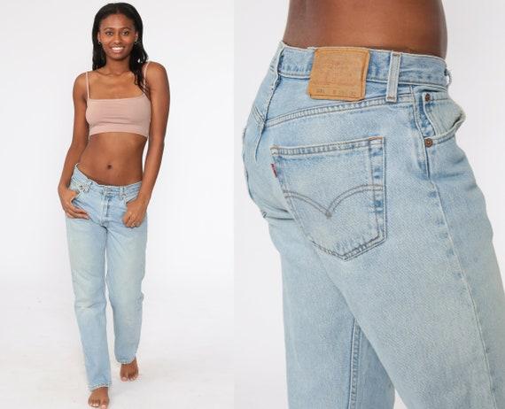 Levis 501 Jeans 33 x 32 -- Straight Leg Button Fly 80s Mom Jeans Denim Pants Mid Rise Waist Levi 90s Boyfriend Vintage Large