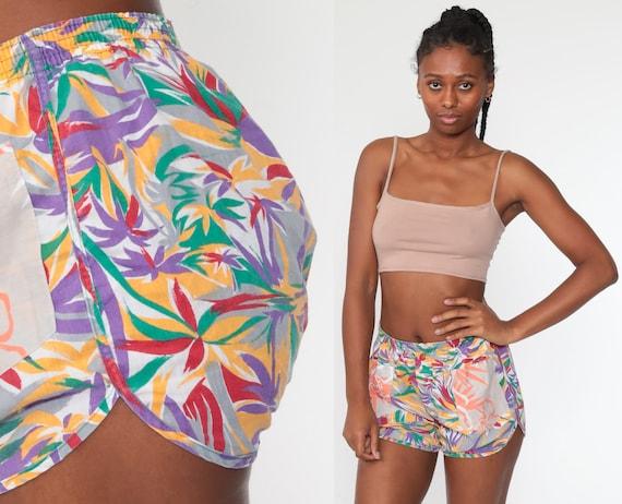 Vintage Jockey Boxer Shorts Tropical Underwear Shorts 80s Retro Pajama Shorts 90s Vintage Elastic Waist 34 Small