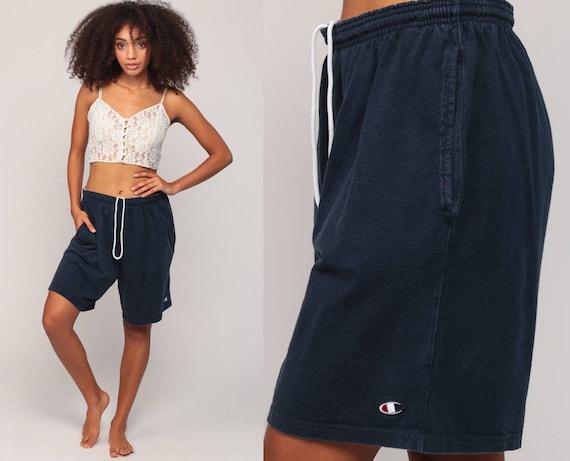 Basketball Shorts Champion Shorts 90s Streetwear Running Shorts Gym Sweat Shorts Retro Jogging Shorts Blue Vintage Hipster Large