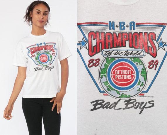 NBA Shirt DETROIT PISTONS Tshirt Basketball T Shirt Sports 80s Graphic Vintage Tee Champions 1980s Sportswear Bball Extra Small xs