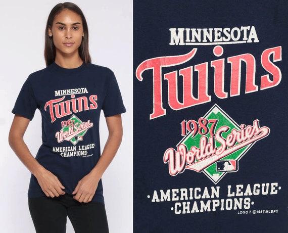 Minnesota Twins Shirt -- 80s Baseball WORLD SERIES Tshirt 1987 Retro Sports T Shirt Sportswear Vintage 1980s Champions MLB Extra Small xs