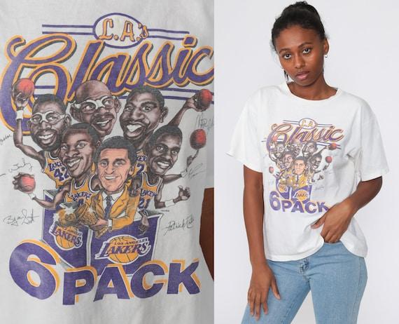 1988 LA Lakers Shirt Vintage Six Pack Shirt Basketball T Shirt Los Angeles California James Worthy Magic Johnson 80s Sports Small Medium
