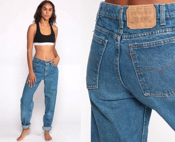 90s Levis Jeans 80s Levis Mom Jeans Levi Jeans Relaxed Fit 90s Jeans Denim Pants Vintage Blue Denim Levi Strauss Medium 6 28