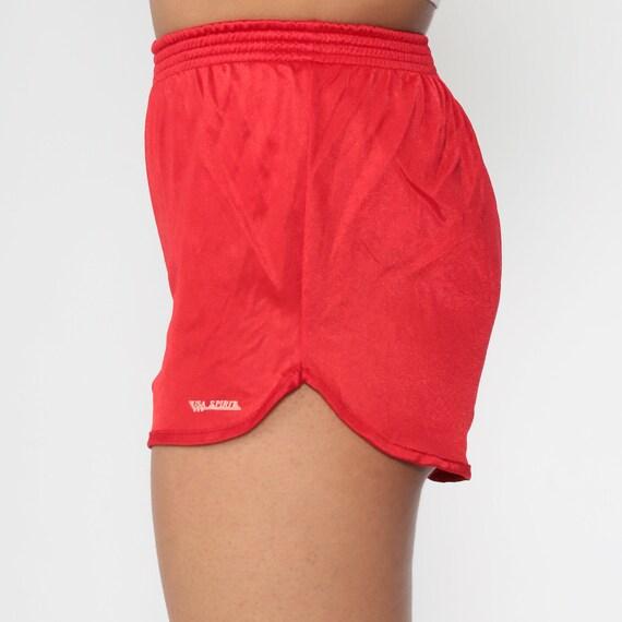 Vintage 1980s Mini Summer Shorts Blue Sprinter Shorts Sweatpants Short Pants 80s Sports Shorts size Medium
