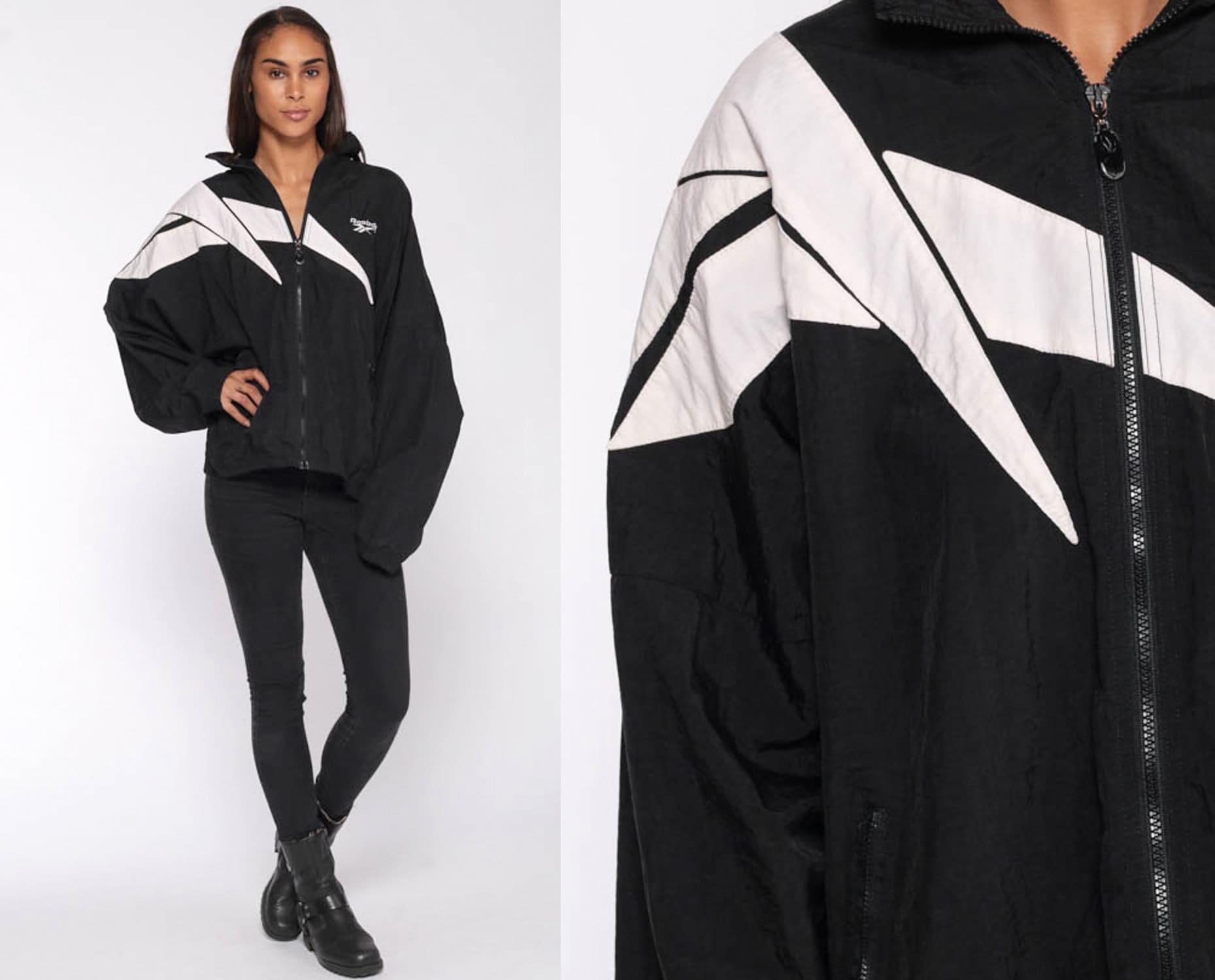90s Clothing Streetwear 90s Reebok London England Color Block Spring Track Jacket 1990s Vintage RARE Reebok Windbreaker Coat  Jacket