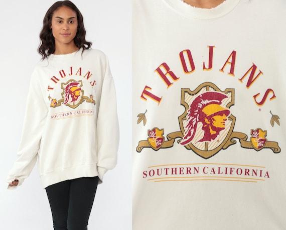 USC TROJANS Sweatshirt University Sweatshirt 90s University Southern California Shirt Football Off-White 1990s Sportswear Extra Large XL