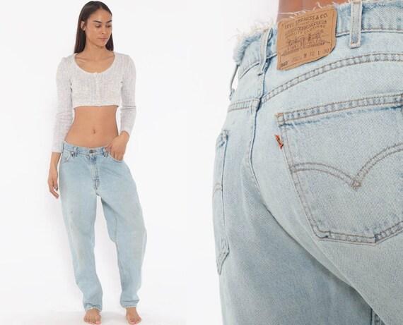 Distressed Levis Mom Jeans 30 -- High Waist Jeans 80s Jeans Blue Jeans Levi High Waist Denim Pants 560 Tapered 1980s Vintage Medium 30 x 29
