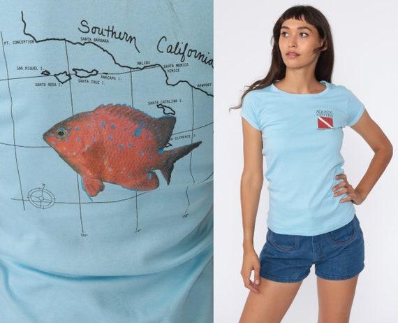 Vintage Scuba Shirt 80s Scuba Diving Shirt Orange