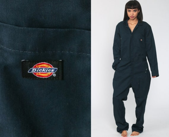 Dickies Coveralls Pants Jumpsuit Workwear One Piece Work Wear Long Sleeve  Blue Vintage Pantsuit 90s Streetwear Men's Large Tall