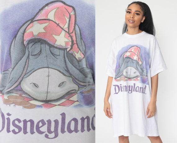 Eeyore Pajamas Disney Pajama Dress Winnie The Pooh Night Shirt Sleep Tshirt 90s Mini PJs Hipster Vintage Small Medium Extra Large xl