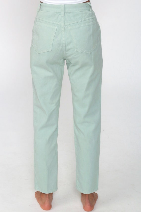 Mint Pastel Jeans XS -- Tapered Leg 90s Jeans Mom… - image 7